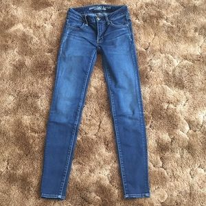 American Eagle Medium-Dark wash Jeggings